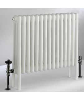DQ - Peta 3 Column Horizontal Radiator - White