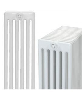 DQ - Peta 6 Column Horizontal Radiator - White