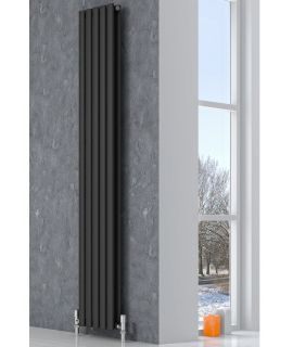 Reina - Neva 2 Column Vertical Single Convector - Anthracite