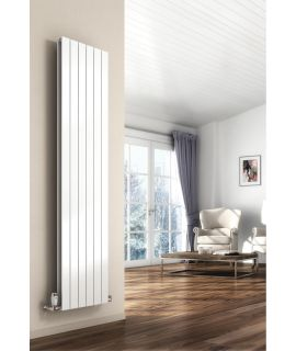 Reina - Flat Vertical Single Radiator - White