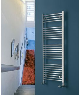 EucoTherm - Chromo Curved Vertical Radiator - Chrome