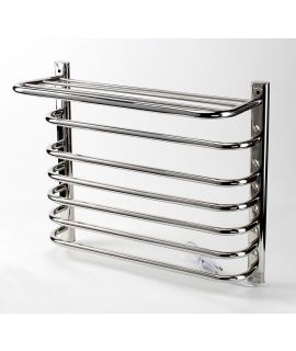 HeatQuick - Tufted Eco Dry Electric Towel Radiator - Stainless Steel