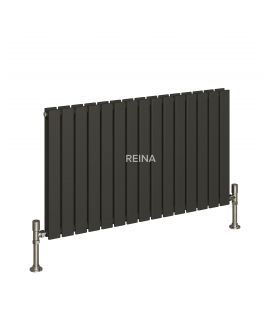 Reina - Flat Horizontal Double Radiator - Anthracite