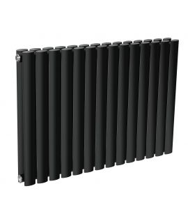 DQ - Cove Double Horizontal Radiator - Black