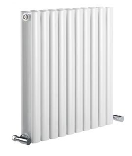 DQ - Cove Double Horizontal Radiator - White