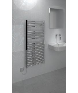 Kudox - Electric Towel Rail Curved - Chrome