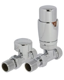 Reina - Stylish Thermostatic Straight Valve with Lochshield
