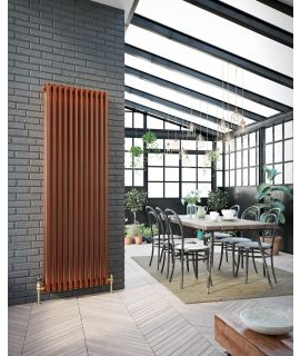 DQ - Peta 3 Column Vertical Radiator - Copper