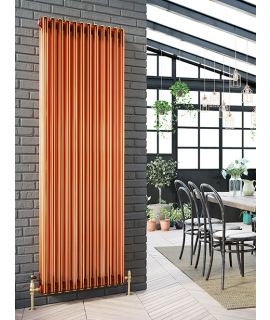DQ - Peta Vertical 2 Column - Copper Radiator