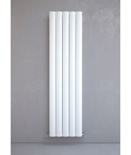 Kudox - AluLite Arc Radiator - Vertical - White